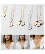 2019 Tiny Gold Initial Necklace Gold Silver Letter  Necklace Initials Na... - $7.67