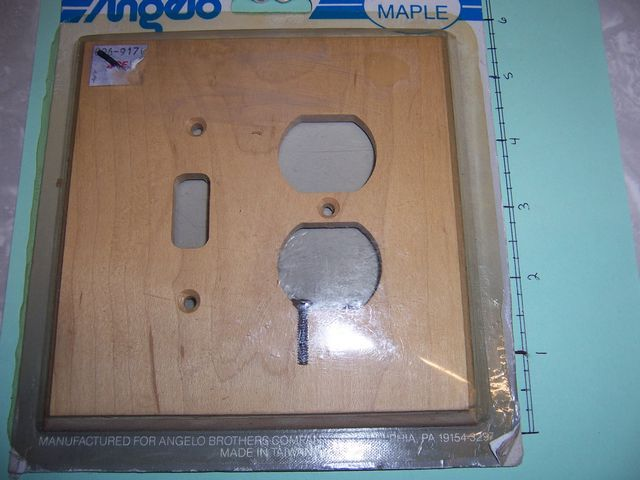 Angelo 2 Gang Maple Wall Plate 1 Toggle 1 Duplex 74389