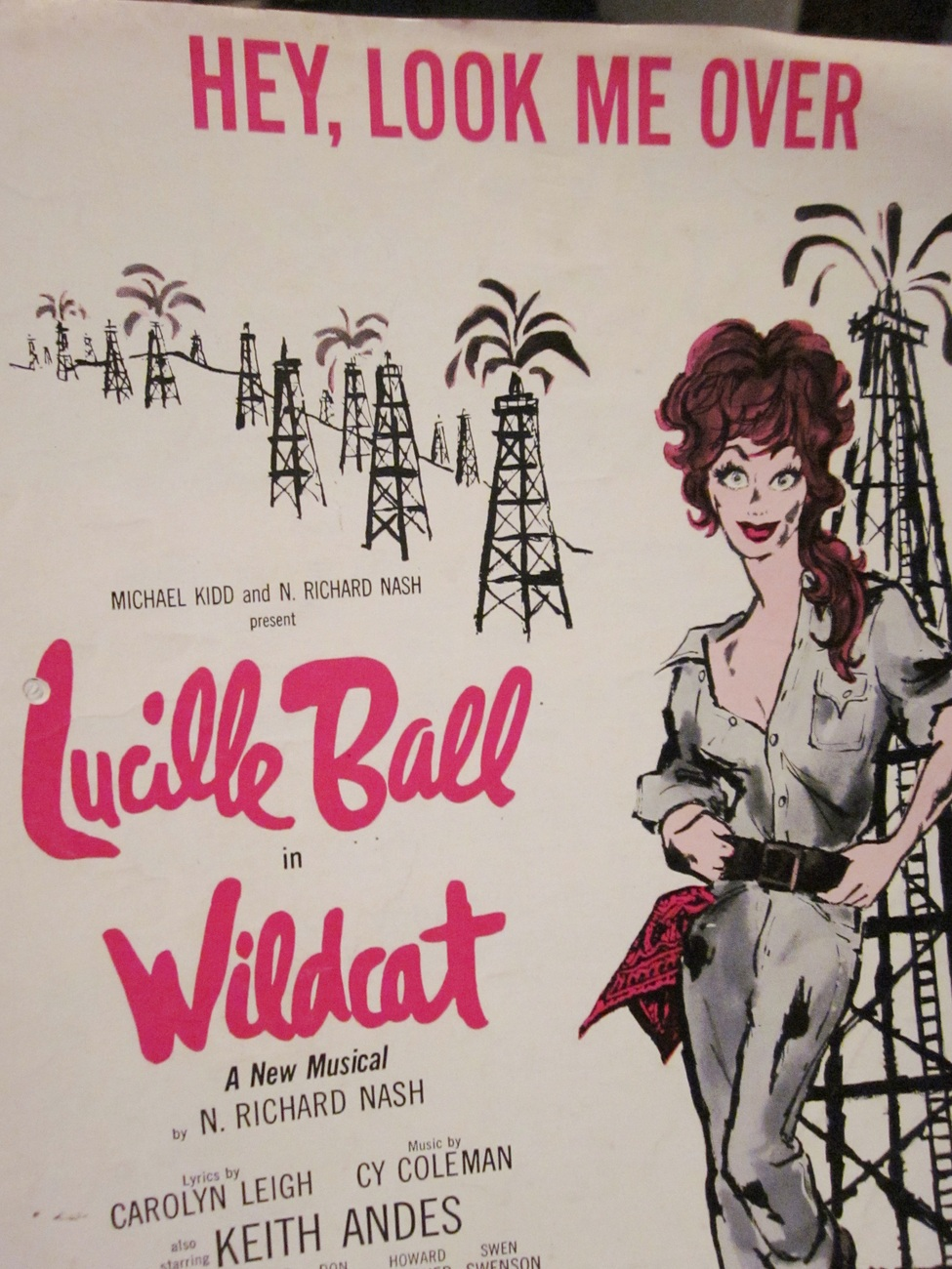 Sheet Music Hey, Look Me Over by Lucille Ball in Wildcat 1960