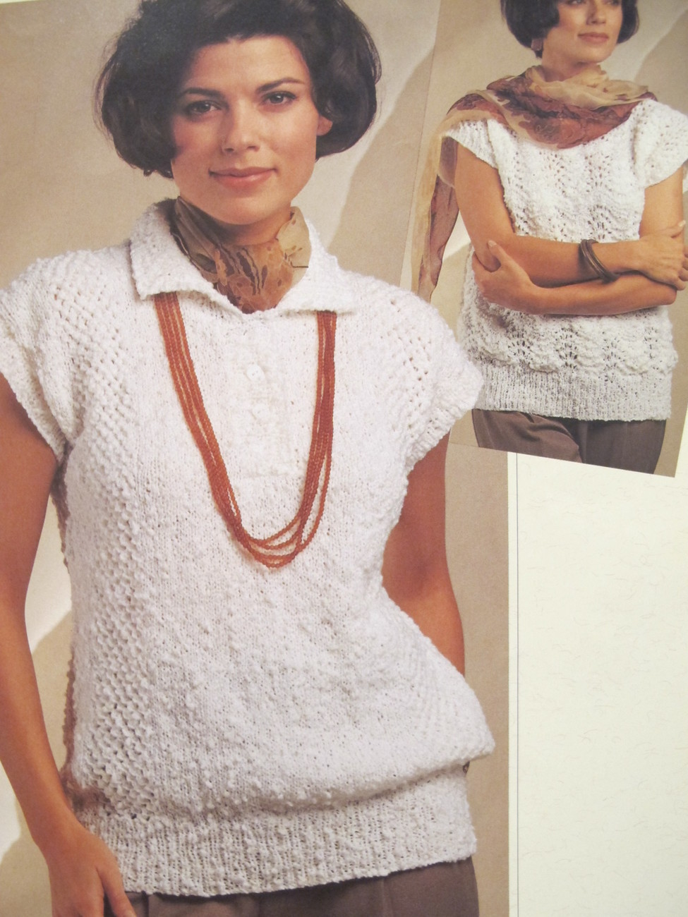 Vintage Bernat 7 Knitting Patterns Sweaters Cardigan LADYS Small - Xtra Large