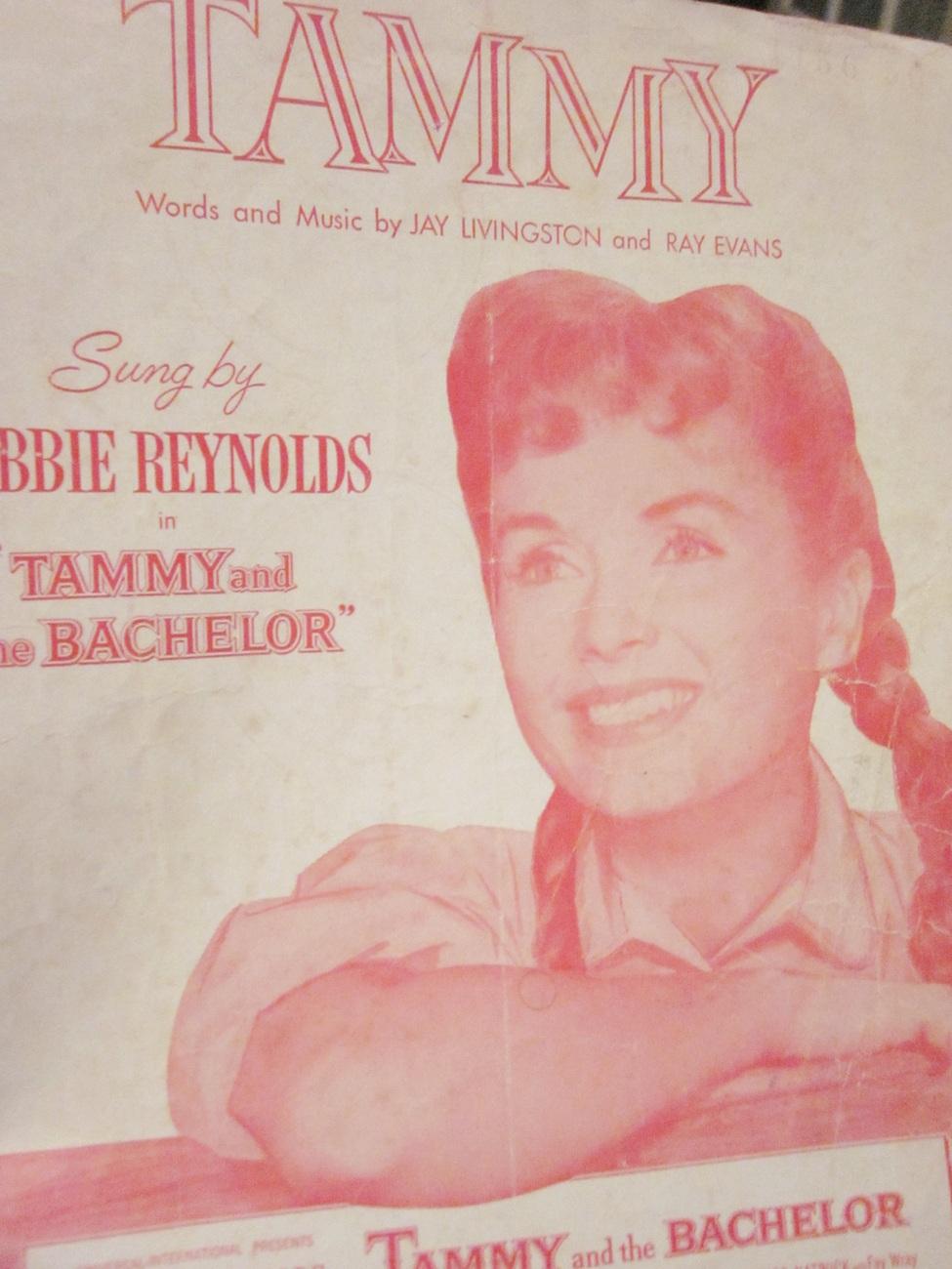 Sheet Music Tammy by Livingston & Evans sung by Debbie Reynolds 1958