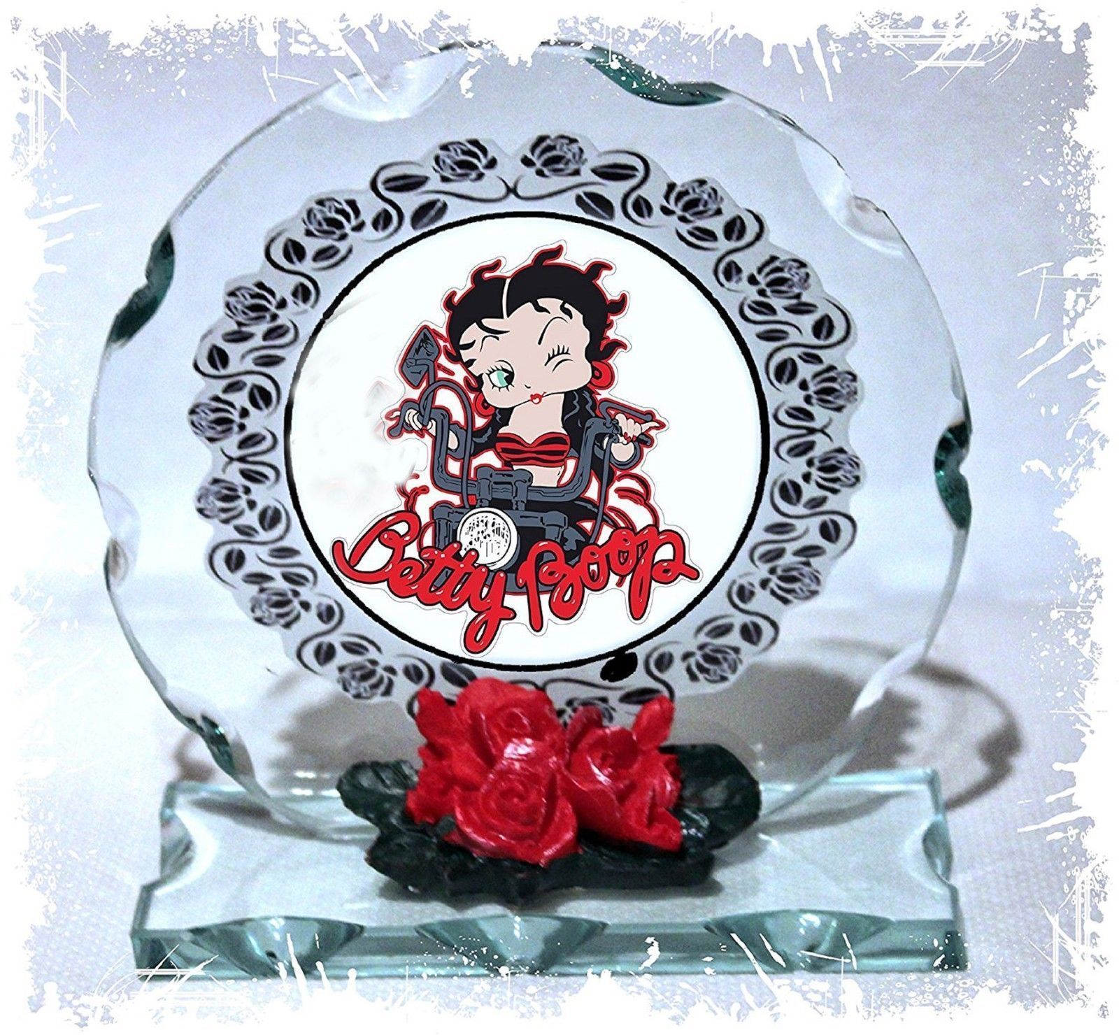 Betty Boop Mother's Day gift Collectable crystal Cut glass Plaque  #8