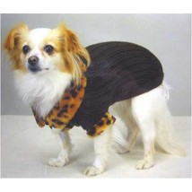 Casual Canine Windsor Dog Sweater with Faux Leopard Trim SMALL - $5.95