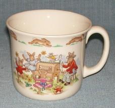 Royal Doulton Bunnykins -1 Handled Child's Cup - Organ Grinder/ Jump Rope -VGUC - $4.95