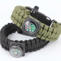 Survival Bracelets with Fire Starter Outdoor Self-rescue - One item (Color vary) image 1