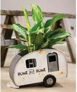CAMPER new tabletop Planter in Distressed Tin - $48.07 CAD