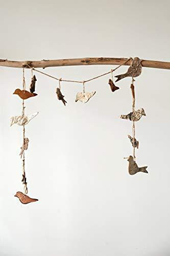 Creative Co-op Bird Shaped Birch Bark Garland