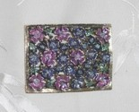Brooch   lavender floral rectangle3 thumb155 crop