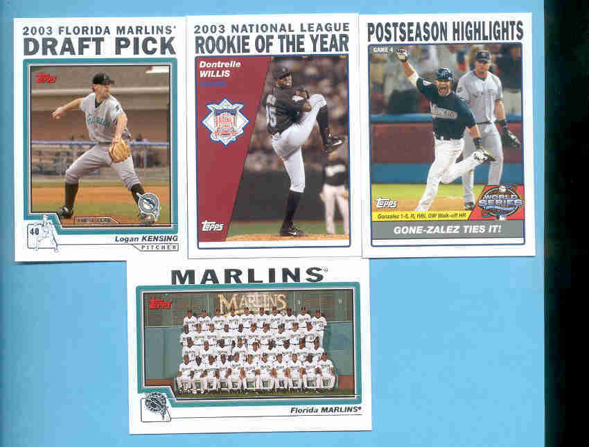 2004 Topps Florida Marlins Baseball Team Set