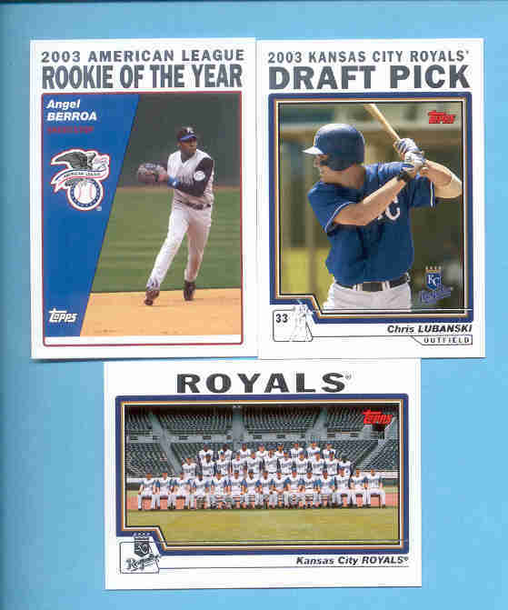2004 Topps Kansas City Royals Baseball Team Set