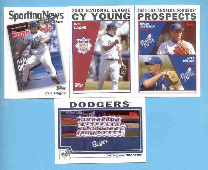 2004 Topps Los Angeles Dodgers Baseball Team Set