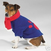 DOG Casual Canine Chilly Day Fleece Jacket & Pom Pom Scarf  SMALL - $5.95