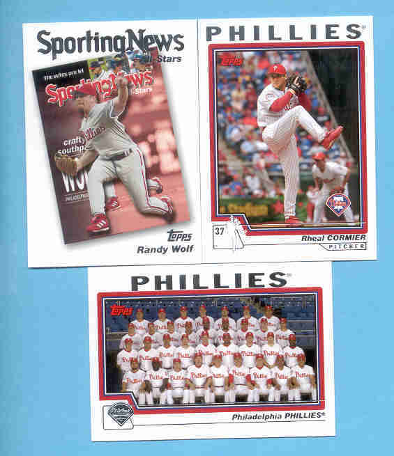 2004 Topps Philadelphia Phillies Baseball Team Set