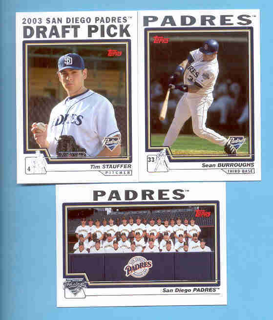2004 Topps San Diego Padres Baseball Team Set