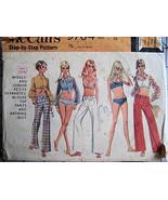 McCalls 9704 Bikini Bathing Suit Bells Shirt Vintage 1960s Pattern Junio... - $14.95