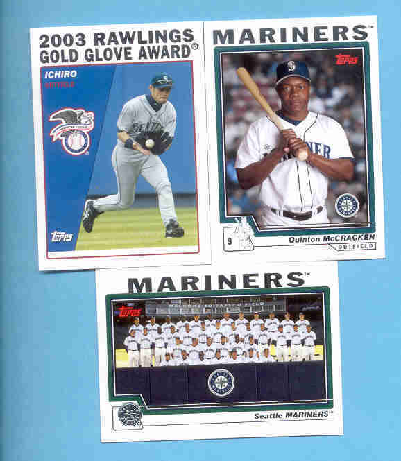 2004 Topps Seattle Mariners Baseball Team Set