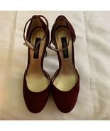 White House Black Market Womens Marianna Port Pump Shoes Burgundy Platfo... - $14.84