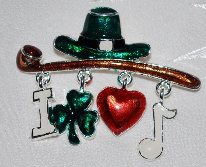 St. Patrick's Day!   Luck of the Irish Brooch- New!