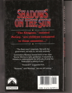 Shadows on the Sun Star Trek Michael Jan Friedman Hardcover Like New