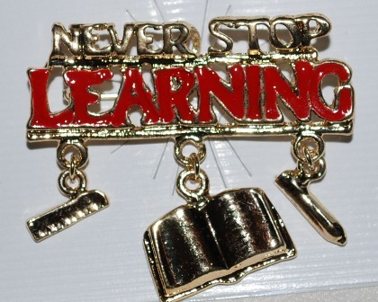 Brooch   never stop learning