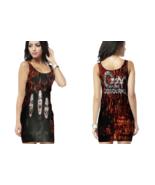 ozzy osbourne  WOMENS BODYCON SLEEVELESS SHORT MINI DRESS - $17.99+