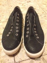 Converse All Star Sz 12 Leather Black Low Top - $68.31