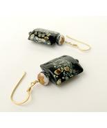 Asian / Oriental inspired glass earrings.  Nickel free. - $19.95