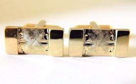 Swank Rectangular Cufflinks Brushed Metal Signed Men's Formal Wear Acces... - $18.58
