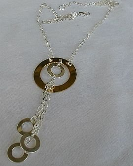 Golden and silver rounds necklace