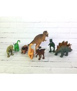 Mixed Lot of 8 Dinosaur Action Figures Toys Various Sizes 6in - 10in - $24.74
