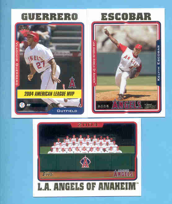 2005 Topps Anaheim Angels Baseball Team Set