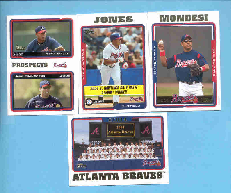 2005 Topps Atlanta Braves Baseball Team Set