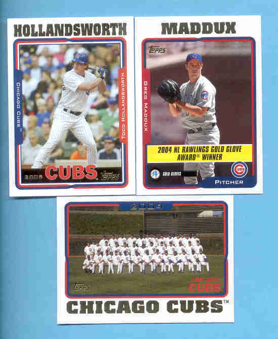 2005 Topps Chicago Cubs Baseball Team Set