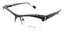 Alain Mikli Rx Eyeglasses Frames A02017 M0JN 52x17 Black / White / Grey France - $117.60