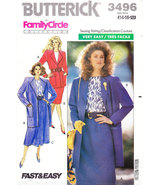 BUTTERICK 3496 PATTERN MISSES JACKET SKIRT & TOP SIZE 14-18 - $4.50