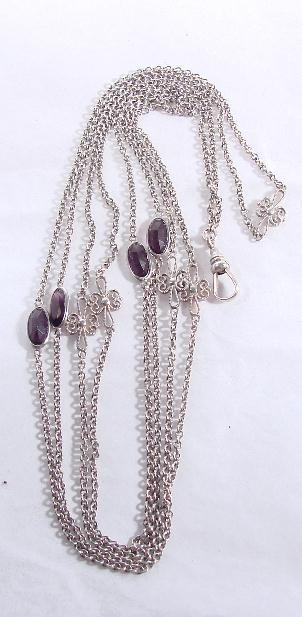 ANTIQUE SILVER WATCH/MUFF CHAIN