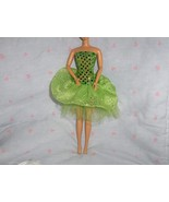 Lime Green Glitter Dot and  Giltter Chiffon Party Dress fits Barbie and ... - $5.95