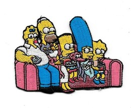 The Simpsons Family on the Couch w/ Switched Heads Embroidered Patch NEW... - $7.84