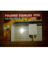 Polished Stainless Steel 3 pc LASAGNA / ROASTER SET pan spatula wire roa... - $59.99