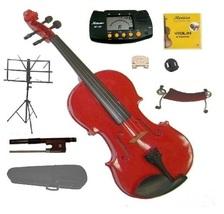 3/4 Size Red Violin,Case,Bow,Rosin,2 Bridges,Tuner,Shoulder Rest,Stand,Mute - $60.00