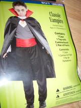 Boy's Size Medium 8 Vampire Halloween Costume Cape Top Pants New - $17.00