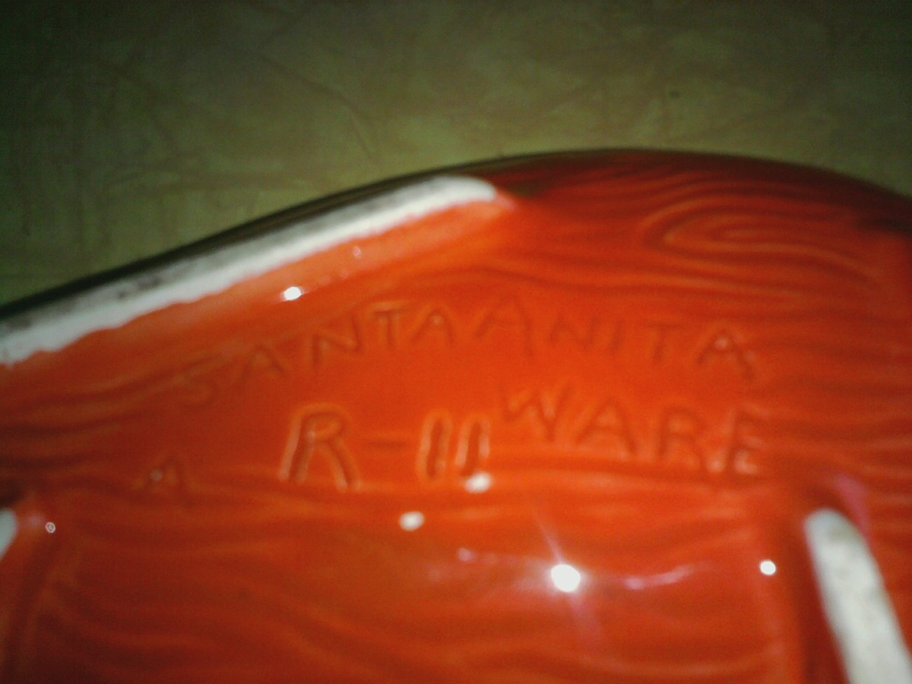 Santa Anita Ware ashtray; stamped