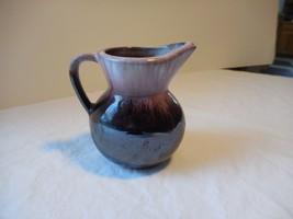 "Miniature Pottery Pitcher/Ewer Glazed Purple Amethyst Japan 3"" - $8.99"