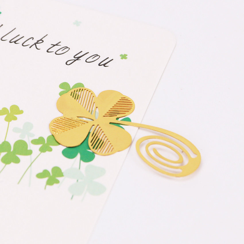 Primary image for XUES® 1PC/Set New Four-leaf Clover Reading Metal Clip Bookmark Gift