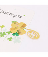 XUES® 1PC/Set New Four-leaf Clover Reading Metal Clip Bookmark Gift - $1.13