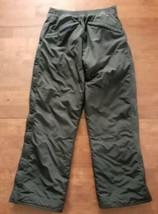 LL Bean Boys Girls Ski Snow Pants Large 14-16 Black Full Side Zipper Ins... - $22.27