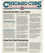 Rare Chicago Cubs Newsletter News Summer 1982 Vol 6 #3, 8 Pages Intact - $5.99