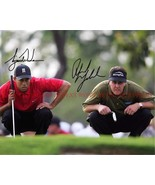 PHIL MICKELSON AND TIGER WOODS SIGNED AUTOGRAPH 8x10 RP PHOTO GOLF LEGENDS - $18.80