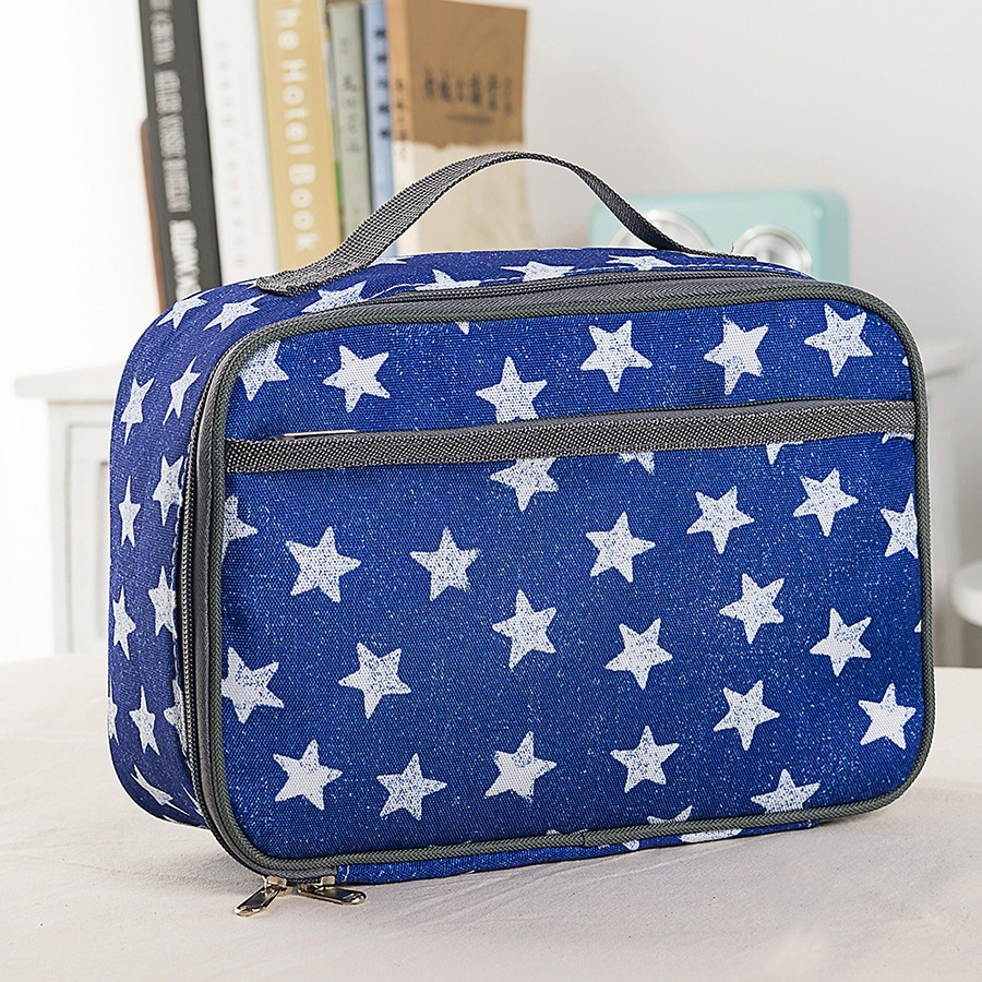 Lunch Box Series Pattern Theme Blue Star Pattern Lunch Bag