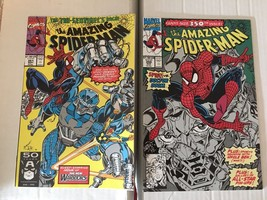 Amazing Spider-Man 350 & 351 Marvel Comic Book Lot 1991 VF+ Condition - $4.49